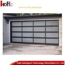 Image Doors Aluminium Hofic Intelligent Technology shenzhen Co Ltd Overhead Sliding Garage Doors With Tempered Glass And Pc