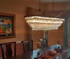 the inch rectangular glass drop chandelier box antique copper rectangular glass chandelier