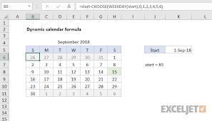 Excel Formula Dynamic Calendar Grid Exceljet