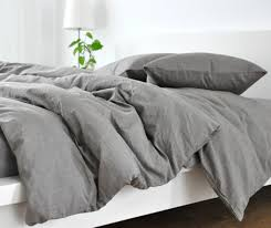 gray linen duvet cover awesome grey natural custom size queen king calif twin pertaining to 1 jpg