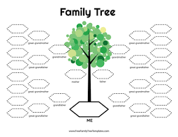 Family Tree Printable Template Free Family Tree Templates Printable Pdf Doc Family Tree Templates