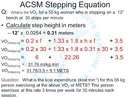 18 acsm stepping equation