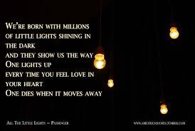 Passenger Little Lights Lyrics All The Little Lights Passenger Song Lyrics Passenger