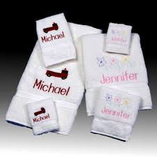 personalized kids bath towel sets picture 1 2