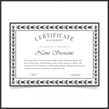 Certificado Elegante Retro Blanco Y Negro Descargar Vectores Gratis