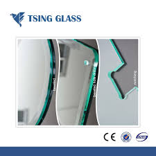 cut sizes samll pieces toughened glass tempered glass with logo holes