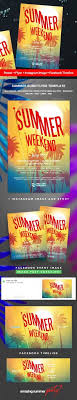 nightclub party poster print summer summer flyer summer party sun sunset template tropical summer weekend party flyer template size summer