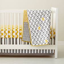 baby crib bedding baby grey  yellow patterned crib bedding  the