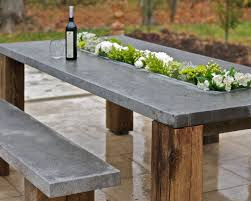 outdoor dining area furniture table laax exceptional furnishings from hartstone gorgeous concrete outdoor dining table r39
