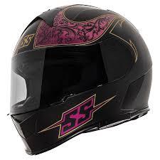 Speed And Strength Ss900 Scrolls Black Violet Full Face Helmet 1111 0622 8051