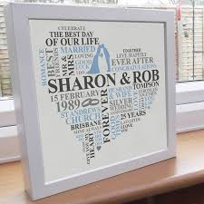 what is the 25th wedding anniversary gift gift ideas bethmaru 25th wedding anniversary gift ideas