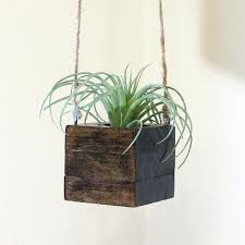 wooden hanging planters small wood hanging succulent planter modern cube plant holder indoor garden planter box diy wood hanging planters