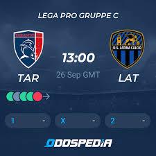 Taranto FC 1927 - US Latina Calcio 1932 » Live Stream & Ticker + Quoten,  Statistiken, News