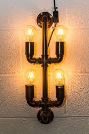 industrial look lighting. unique look industrial style wall light pipework four bulb fitting throughout industrial look lighting o