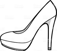 shoes heels drawing. drawn artistic high heel pencil and in color shoes heels drawing n