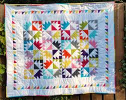 Patchwork quilt | Etsy & Handmade Double Bearpaw Pattern Patchwork Quilt Adamdwight.com