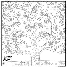 Small Picture Tree of Life Coloring Page Free pdf download klimt treeoflife