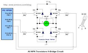 h bridge microchip pic microcontroller pwm motor controller the