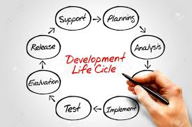 Circular Flow Chart Of Life Cycle Development Process Business