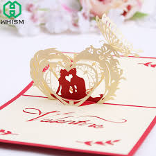 Postcards For Birthday Us 1 92 16 Off Whism 3d Pop Up Greeting Postcards Birthday Laser Cut Cards Cherry Blossoms Greeting Card Vintage Marriage Invitation Gift Cards In