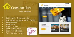 Construction Website Templates New Construction HTML Templates From ThemeForest