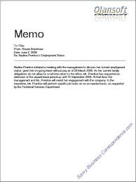 Memo Example For Business Business Writing Memo Format Template Sample Optional
