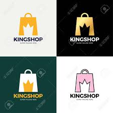 What Is Negative Space In Graphic Design Shopping Bag And Crown In Negative Space Vector Crown King Shop