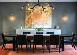 chandelier for rectangular dining table tree branch chandelier for contemporary dining room with eight dining chairs