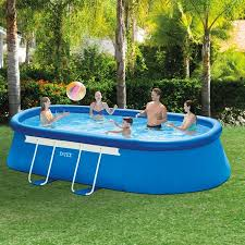 intex oval above ground pools.  Oval Intex 18u0027 X 10u0027 42 On Oval Above Ground Pools I