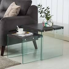 Glass nesting coffee tables Circular Product Description Ebay Modern Nest Of Wood Tempered Glass Nested Coffee Tables Living