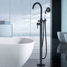 free standing bathtub faucet filler oil rubbed bronze floor mounted mixer taps
