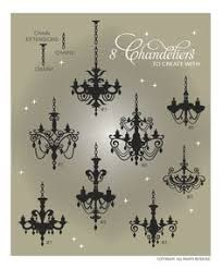 Small Picture Vintage Halloween Silhouettes Chandelier silhouette vector