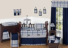 rustic crib furniture. sweet jojo designs rustic designer navy blue and gray boys plaid baby bedding 9 piece crib furniture m