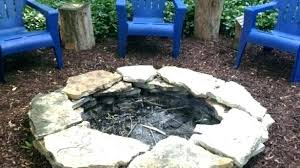 irregular flagstone patio with fire pit outdoor rock stone table s outdoor rock fire pit pits stone pictures ideas