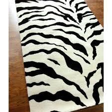 amazoncom zebra area rug 5x8 animal skin print modern carpet black furniture chic zebra print rug