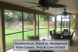 aluminum patio covers vs wood patio