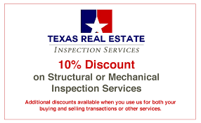 Coupon Texas Real Estate Inspection Services