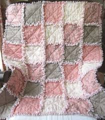 Best 25+ Rag quilt ideas on Pinterest | Rag quilt instructions ... & French Country Baby Girl Quilt Rag Quilt Pink Gray Adamdwight.com