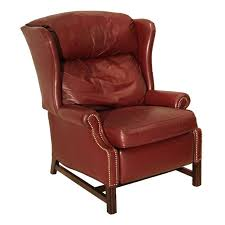 wing back recliner wing back leather recliner in a burdy leather at leather wing back recliner