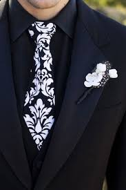 Damask Tie Damask Print Wedding Ideas Black And White Damask Tie For