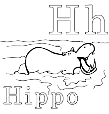 Small Picture H Is For Hippo Alphabet Coloring Pages Printable Alphabet
