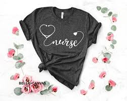 Monogrammed Stethoscope Nurse Shirt Ringspun Cotton Jersey