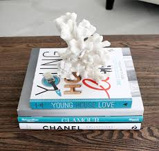 stack of books table