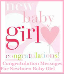 Congratulation Messages Baby Girl