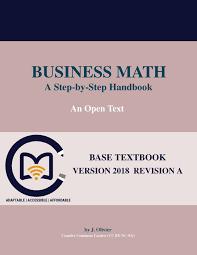 business math business math a step by step handbook open textbook library
