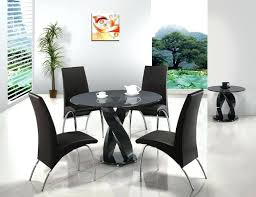 fancy black round dining table and chairs with best furniture images on room pedestal leaf