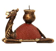 Small Picture Wholesale Dhokra Metal Camel Figurine with Candle Holder