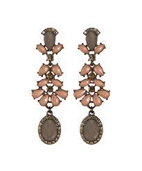 crystal chandelier earring chocolate brown hi res