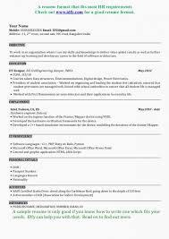 Resume Format For Bba Resume Template Sample Mca Resume Format For