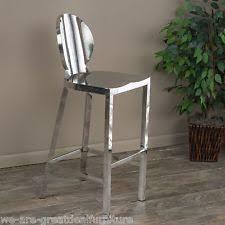 Modern Design Round Backrest Stainless Steel Bar Stool